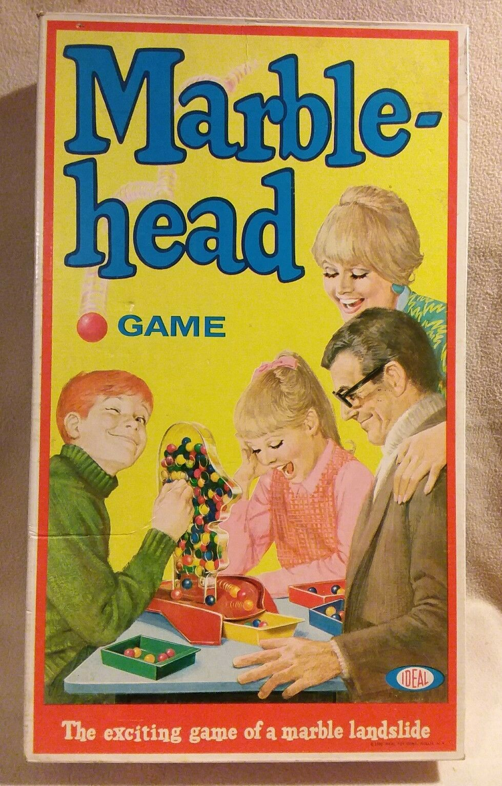 Marble-Head  Board Game by Ideal Toys 1969 1969 1969 d96c3e