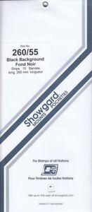 Showgard-Long-Stamp-Mounts-260-55-US-13c-Eagle-Full-Strip-Black-10-Units