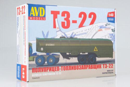 TZ-22 USSR Tank Semi-Trailer AVD Models 1:43 7044AVD