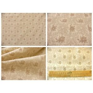 Coupon-fabric-by-50cm-rosine-beige-ivory-background