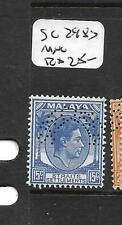MALAYA STRAITS SETTLEMENTS  (P2704B)  KGVI  15C SG 298S PERF SPECIMEN MNG