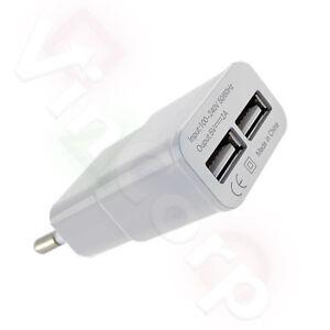 2A-Netzteil-Ladegeraet-Stromquelle-2x-USB-Charger-Design-Kuehler-Smartphone-Handy