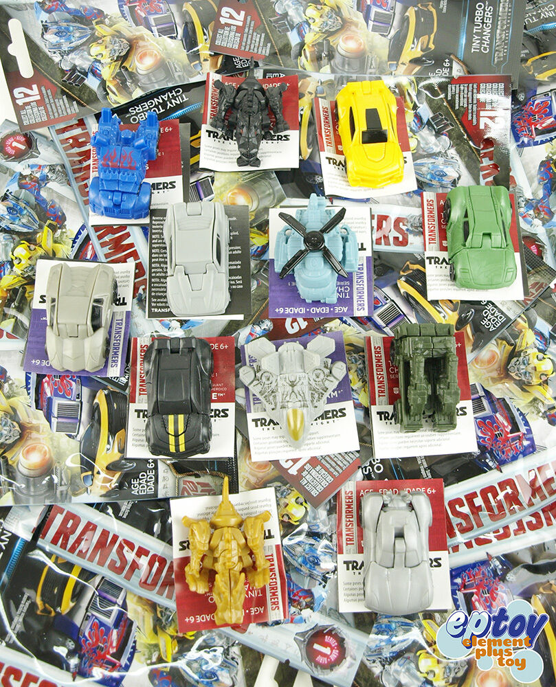 Transformers Movie 5 Tiny Turbo Changers Series 1 Action Figure set of 12