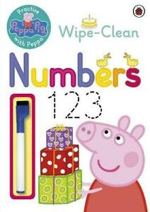 Peppa-Pig-Practise-with-Peppa-Wipe-Clean-Numbers-by-NEW-Book-FREE-amp-Fast-De