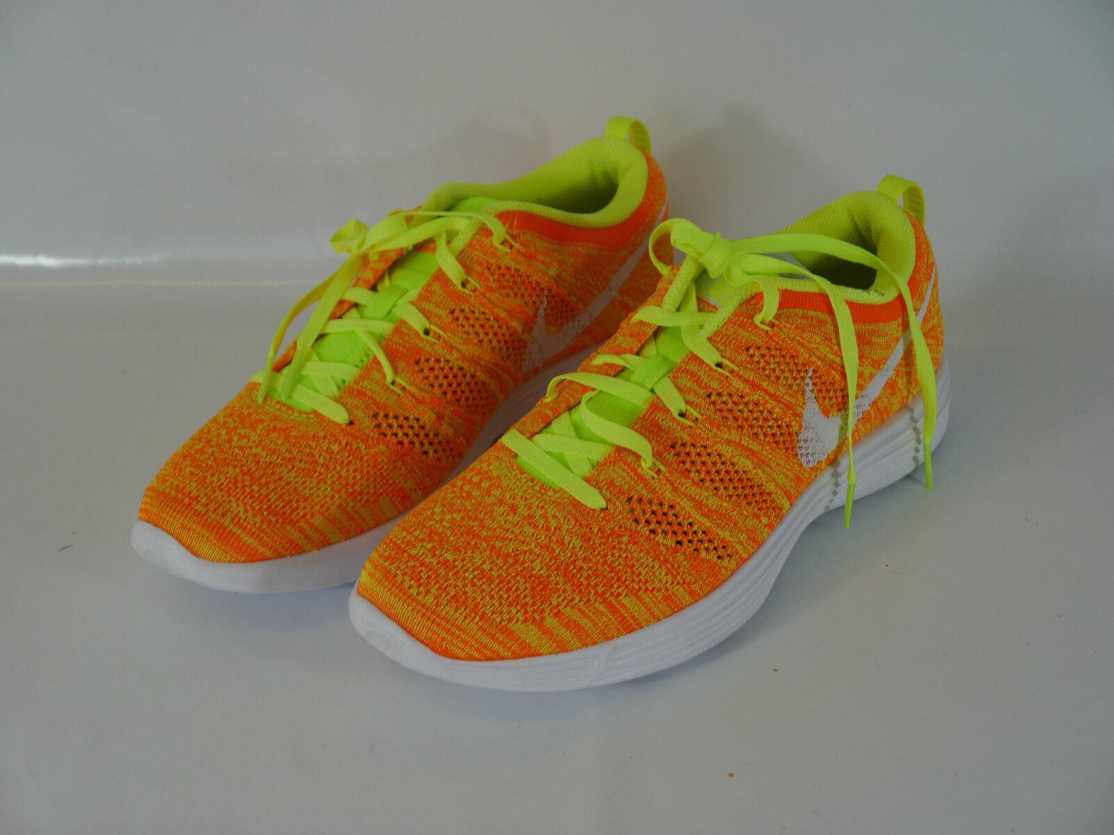 Nike Naranja Flyknit Para Mujer formadores BNIB Us 9 Eur 40.5