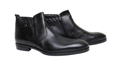 Caballero botines cuero genuino Muga talla 41 negro