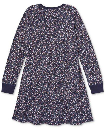 NWT Ralph Lauren Polo Big Girls Floral Print Cotton French Terry Dress