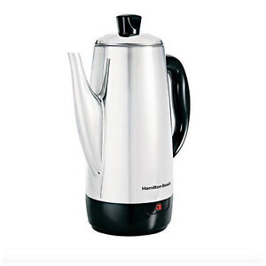 Electric Coffee Percolator Maker Pot Brewer 12 Cup Stainless Steel Filter Cord 40094406166 eBay