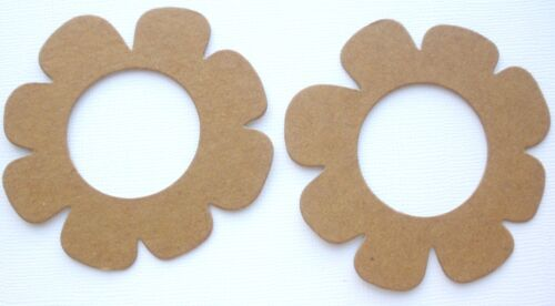 {4} OPEN SCALLOP FLOWER - Bare Unfinished Chipboard Die Cuts - 3 1/4 inch
