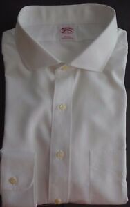 NWOT-Brooks-Brothers-Non-Iron-White-Spread-Collar-Shirt-18-5-33-5