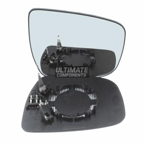 Fits Nissan X-Trail T32 5//2014-/> Convex Heated Wing Mirror Glass Drivers Side