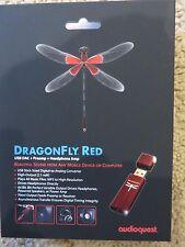 AudioQuest DragonFly Red 2.1V USB Digital Audio Converter - DRAGONFLYRED -NEW