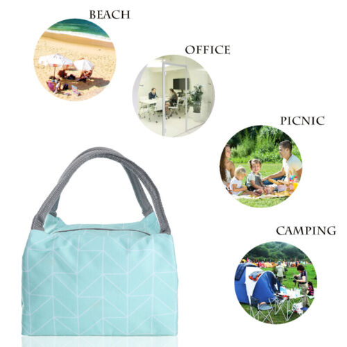Insulated Lunch Bag Microwave Bento Lunch Box Picnic Food Container Storage US