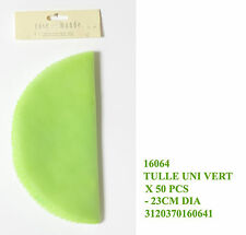 Set 50 tulle velo verde per sacchetto confetti bomboniere o composizioni