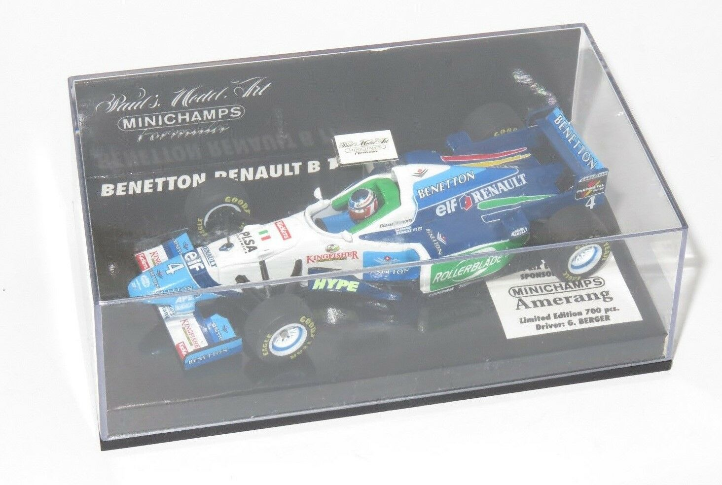 1 43 Benetton Benetton Benetton Renault B196 British Grand Prix edición 1996 Gerhard Berger 677f36