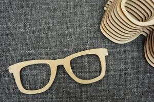 10 Stk Brille Sonnenbrille Fasching Party Holz Basteln Verschonerung