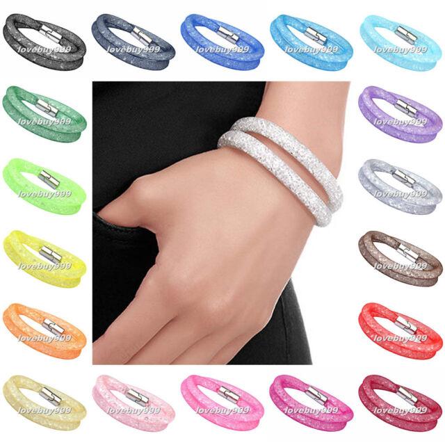 Mesh Magnetic Alloy Crystal Material Stardust Bangle Bracelet Fashion Elements
