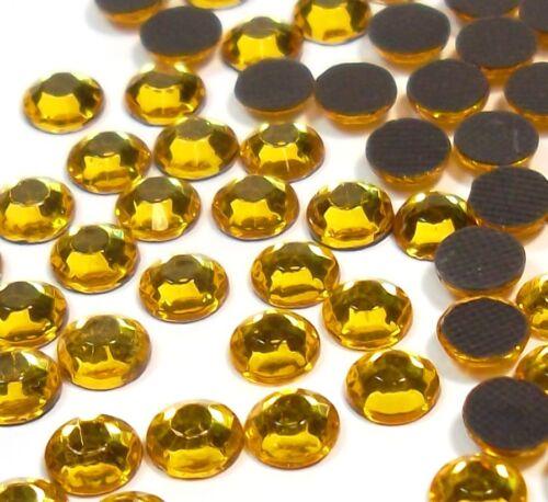 1440 Hotfix Strasssteine 5mm GOLD TOPAS GLAS STRASS Bügelsteine 460