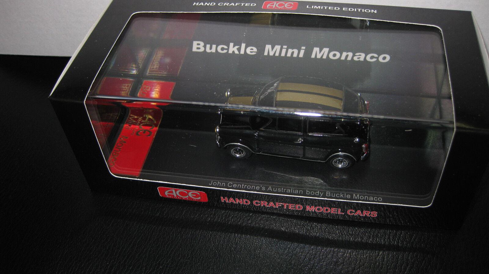 1 43 ACE MODEL CARS CARS CARS JOHN CENTRONE'S AUSTRALIAN BODY BUCKLE MINI MONACO negro 79e492