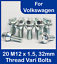 20 Alloy Wheel Vari Bolts M12 x 1.5 Wobbly Wobble Bolt Variable PCD Volkswagen