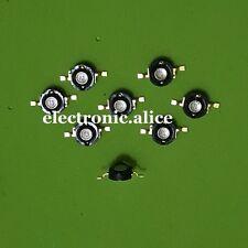 5pcs 3W 365nm-370nm UV LED Ultraviolet LED Chip Light High Power LED Bead Black