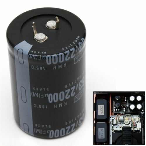 Dimension 35x50mm Cylindrical 63V 22000UF Aluminum Electrolytic Capacitor 105°C