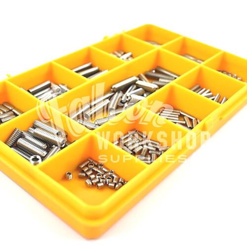 325 ASSORTED M4 M5 M6 A4 MARINE STAINLESS STEEL CUP POINT SOCKET GRUB SCREW KIT
