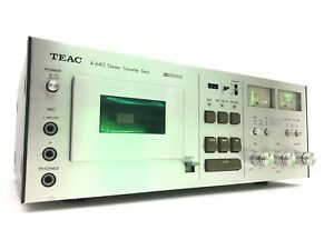 TEAC-A-640-High-End-Stereo-Cassette-Deck-Wood-Box-Vintage-Refurbished-Like-NEW