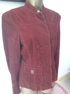 MOTO-rusty-red-cordroy-effect-cotton-casual-jacket-size-10