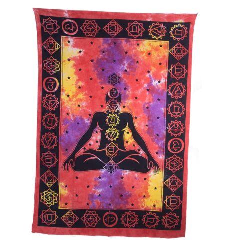 195 cm x 135cm Wandbehang Dekotuch Meditation Chakra Buddha ca