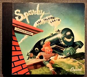 SPARKY and the TALKING TRAIN - 1947 Capitol 3-record Set BC-66