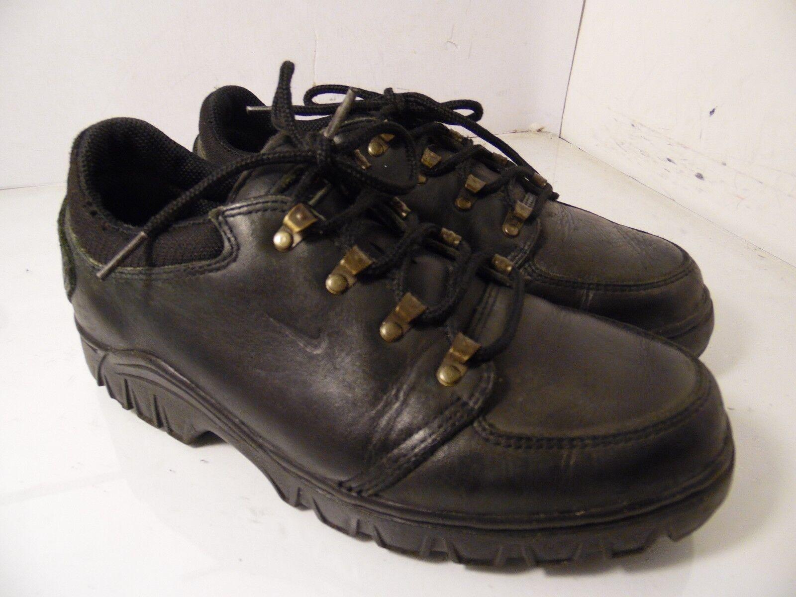 Nike Nike Nike acg di pelle nera, scarpe da trekking trekking scarpe mens 6,5 | Prezzo giusto  a403ea