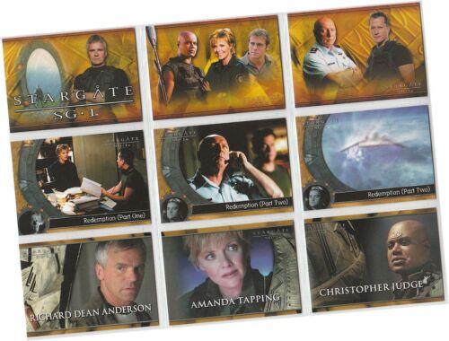 Six - 72 Card Basic//Base Set Stargate SG-1 Season 6 Rittenhouse 2004