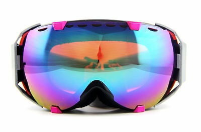 Purple Pink Gradient Women Ski Snowboard Goggles Double Anti-fog UV Eyewear HOT