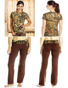 Black Pink Brown Camo Professional Sale Yukon Gear Mossy Oak Lounge Pants & Shirt Set Choose