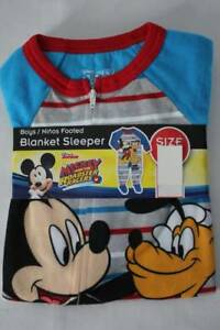 96b4c1048 NEW Toddler Boys Footed Pajamas 2T Disney Mickey Mouse Pluto Blanket ...