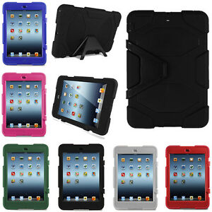 Kids Shockproof Protection Heavy Duty Case Cover Stand for iPad Air 2 Mini 1 2 3