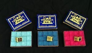 Green-Triangle-Snooker-King-Billiard-Pool-cue-tip-chalk-Blue-Red-Tweeten-12-box