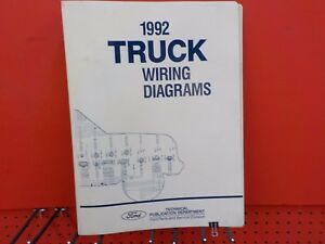 1992 FORD TRUCK WIRING DIAGRAMS FACTORY MANUAL  (FM1992T)