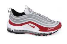 f9994317a2c1 Nike Air Max 97 Sz 9.5 100 Authentic Pure Platinum University Red 921826 009