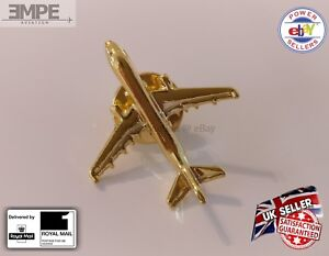 **NEW** AIRBUS A320 A321 Airplane Plane Gold Plated Necktie Jacket Tie Pin Badge