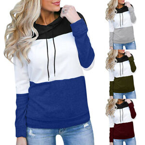 Women-039-s-Loose-Casual-Pullover-Hoodies-Long-Sleeve-Patchwork-Top-Fall-Sweatshirt
