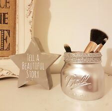 Painted Silver Mason Jar - Perfect for Home Decor