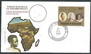 1980 Vaticano Viaggi Del Papa Alto Volta Ouagadougou - Rm1
