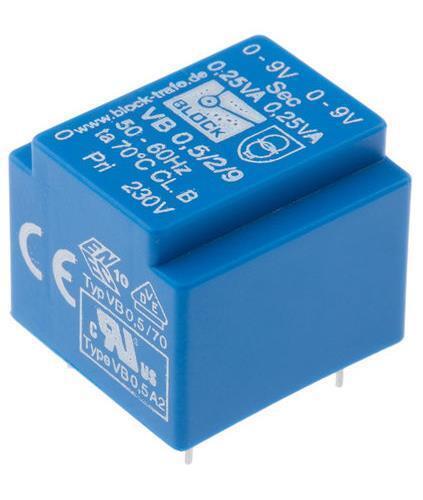 Bloque vb2.8 2//12 Transformador 2 X 12v 2.8 va
