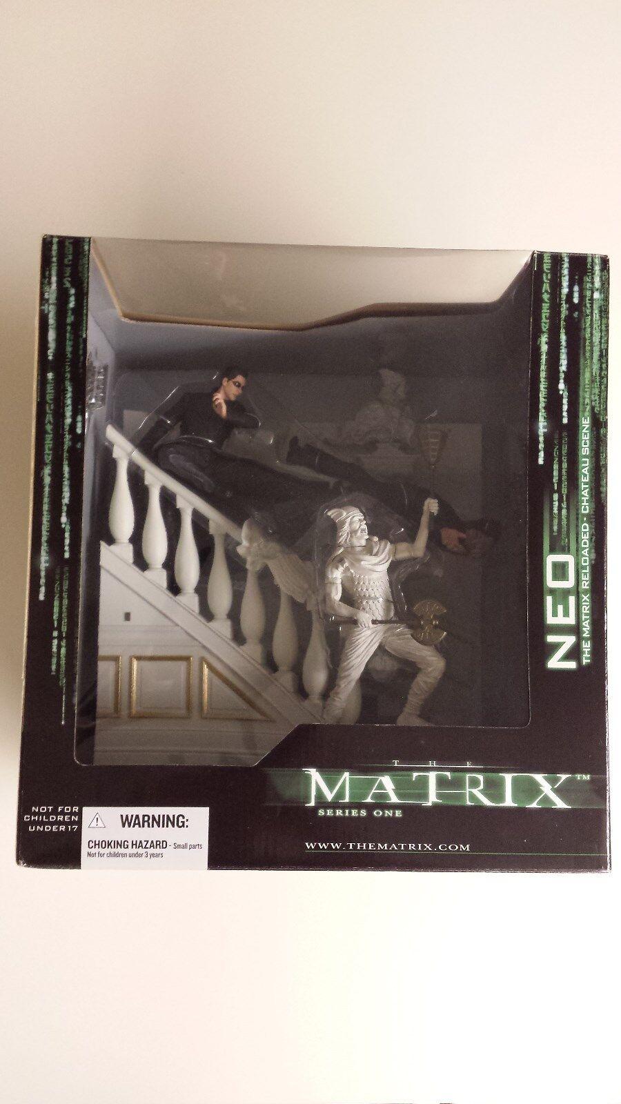The Matrix- Neo-The Matrix Reloaded- Chateau Scene- Series1 Boxed Set MIB