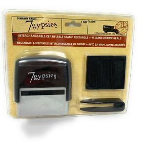 7Gypsies-INTERCHANGEABLE-STAMP-RECTANGLE-With-SEALS-Scrapbooking-Set-NEW
