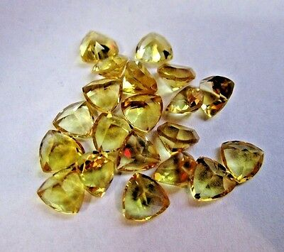 Yellow  Citrine  Drilled Beads Lot