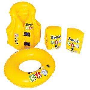 Kinder-Schwimmring-Schwimmfluegel-Schwimmweste-Schwimmhilfe-Set-Donut-Badespass