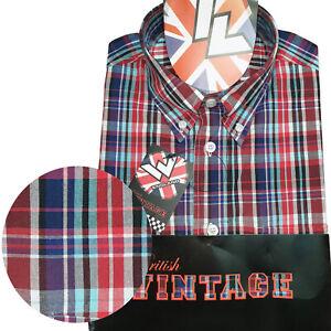Warrior-UK-England-Button-Down-Shirt-MORWELL-Hemd-Slim-Fit-Skinhead-Mod